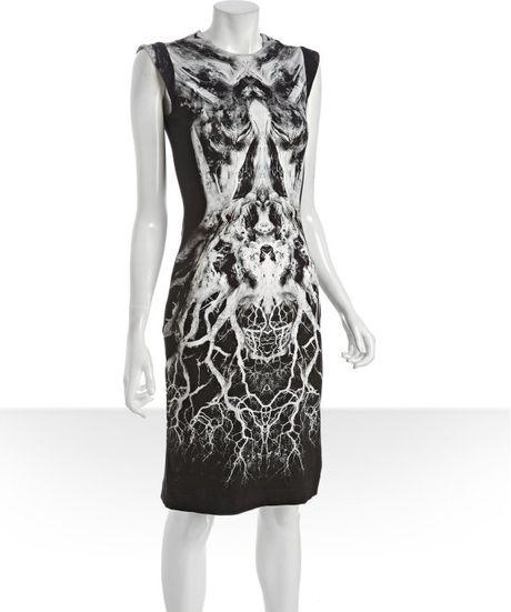 Alexander Mcqueen Black And White Dress