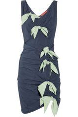 Z Spoke by Zac Posen Bow-embellished Silk-blend Dress - Lyst