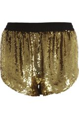 Ashish Sequin Disco Shorts - Lyst