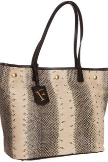 Furla Natural Snake-embossed Leather D-light Shopper Tote - Lyst