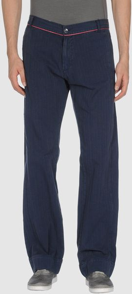 Versace Sport Casual Pants in Blue for Men - Lyst