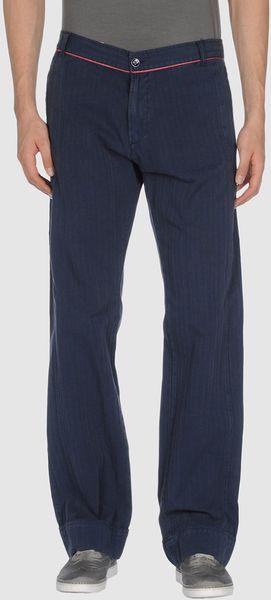 Versace Sport Casual Pants in Blue for Men
