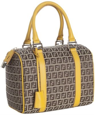 Fendi Ochre and Beige Zucchino Forever Top Handle Bag - Lyst