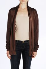 Ports 1961 Knit Cardigan with Tie in Umber - Lyst