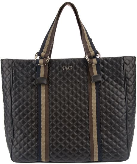 D&g Quilted Shopper Bag in Black - Lyst