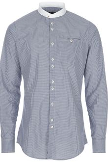 DSquared2 Mandarin Collar Shirt - Lyst