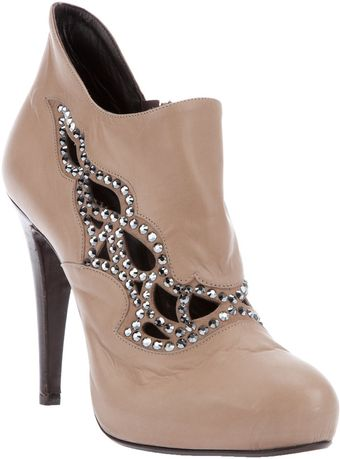 Fabi Cut Out Ankle Boot - Lyst