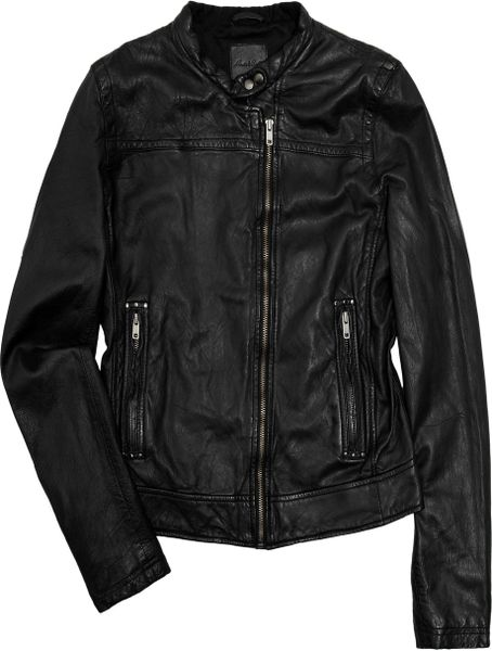 Levi 39 s made crafted motolina leather jacket in black lyst for Levis made and crafted review