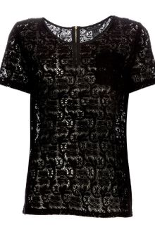 Marc By Marc Jacobs Cotton Lace T-shirt - Lyst