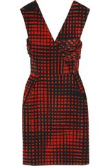 Vionnet Silk-paneled Wool-blend Twill Dress - Lyst