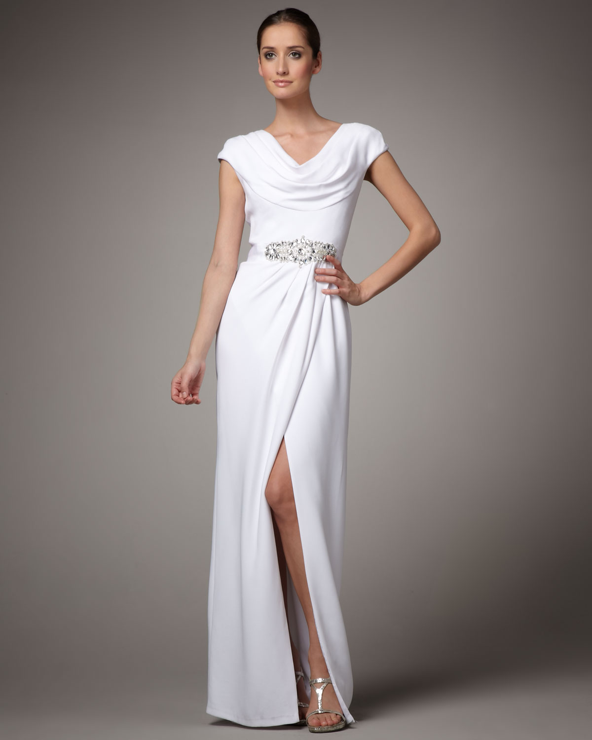Cowl Neck Gown