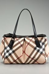 Burberry Check Pvc Tote, Small - Lyst