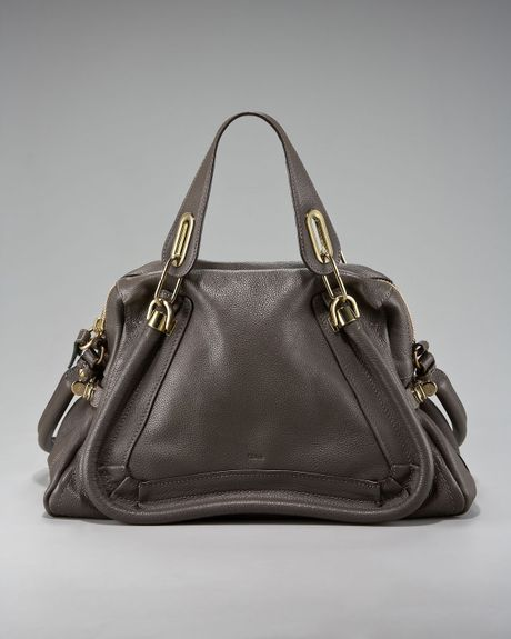 Chloé Paraty Calfskin Satchel, Medium in Brown - Lyst
