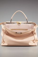 Fendi Peekaboo Leather Tote - Lyst