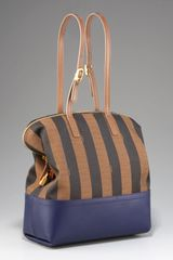 Fendi 2bag, Tobacco/blue - Lyst