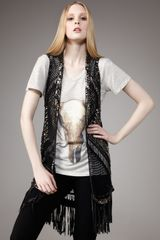 Haute Hippie Beaded Crochet Vest - Lyst