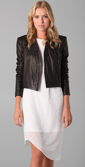 Analog leather jacket