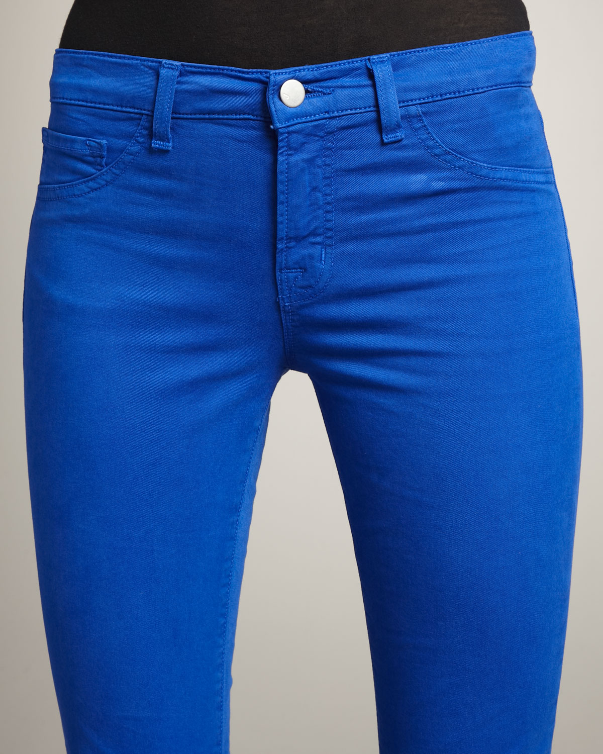 J brand 811 Mid-rise Skinny Twill Jeans, Royal in Blue | Lyst