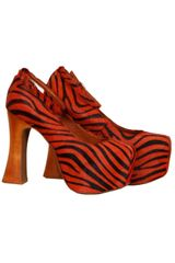 Jeffrey Campbell Elevator in Orange/black