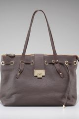 Jimmy Choo Rhea Pebble Leather Tote - Lyst