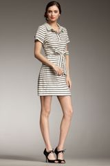 Kate Spade Dana Striped Tie-waist Dress - Lyst