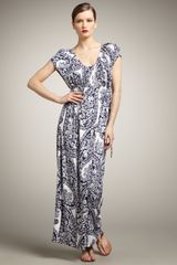 Melissa Masse Paisley-print Maxi Dress - Lyst