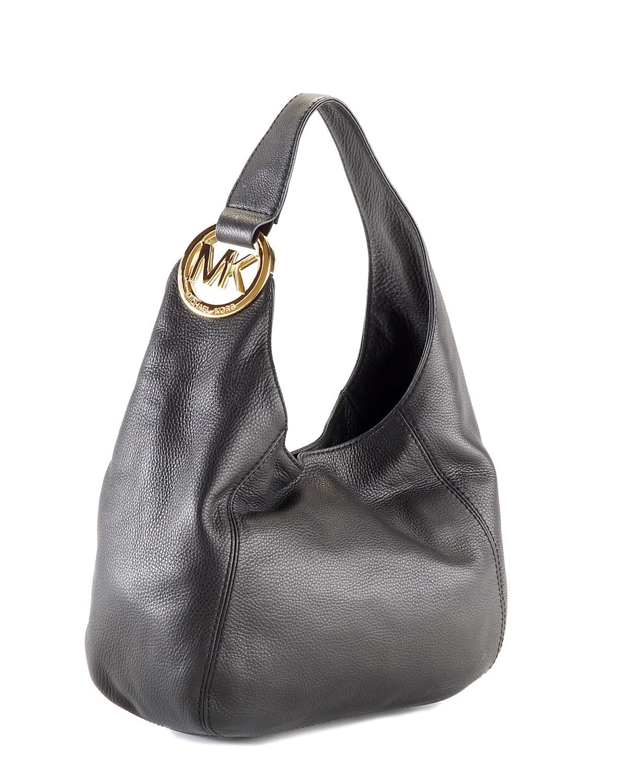 479b70650 Michael Kors Fulton Medium Shoulder Bag Black - Best Model Bag 2016