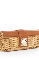 Michael by Michael Kors Id Straw Clutch, Luggage - Lyst