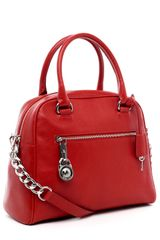 Michael by Michael Kors Joan Large Satchel, Red - Lyst