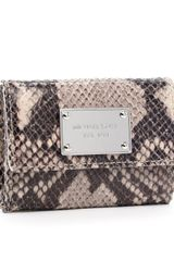 Michael by Michael Kors Jet Set Flap Coin Holder, Python Embossed - Lyst
