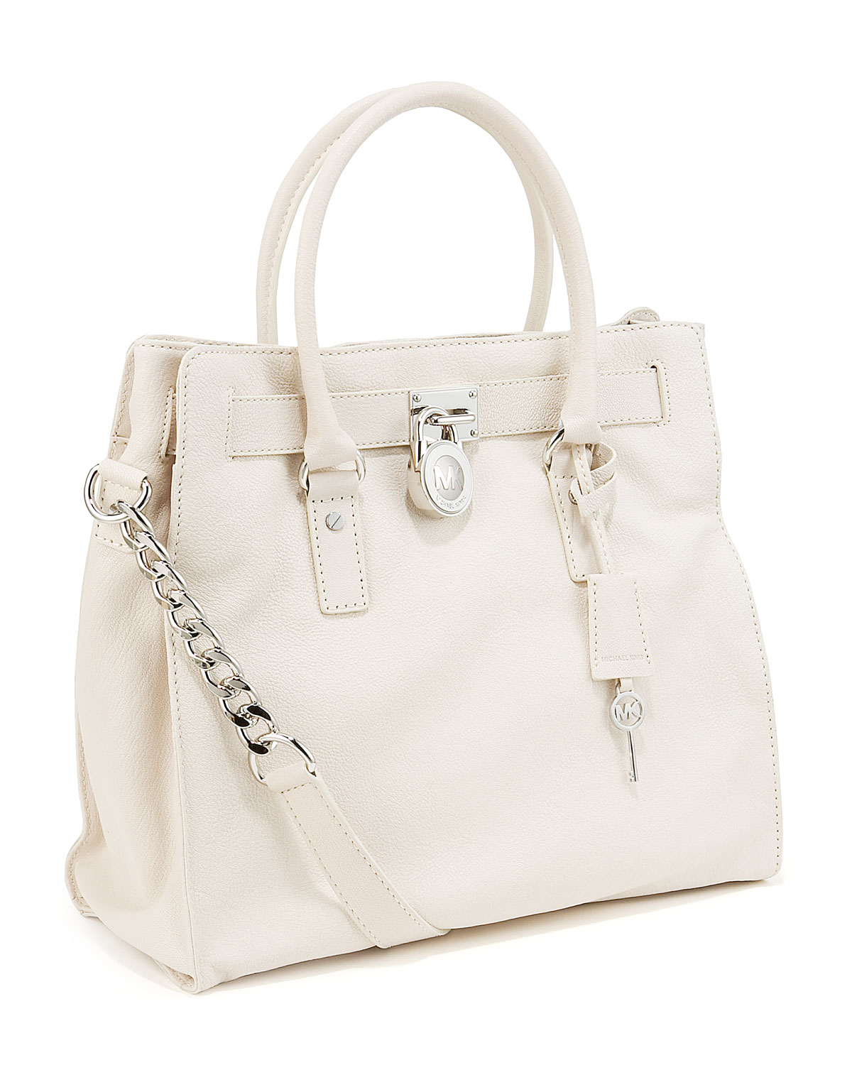56bbe0a3c ... where can i buy lyst michael michael kors hamilton large tote vanilla  in white fa3ca 2291e