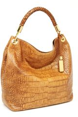 Michael Kors Skorpios Large Shoulder Bag, Tan - Lyst