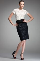 Nina Ricci Paillette Tweed Pencil Skirt - Lyst