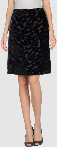 Prada Knee Length Skirt - Lyst