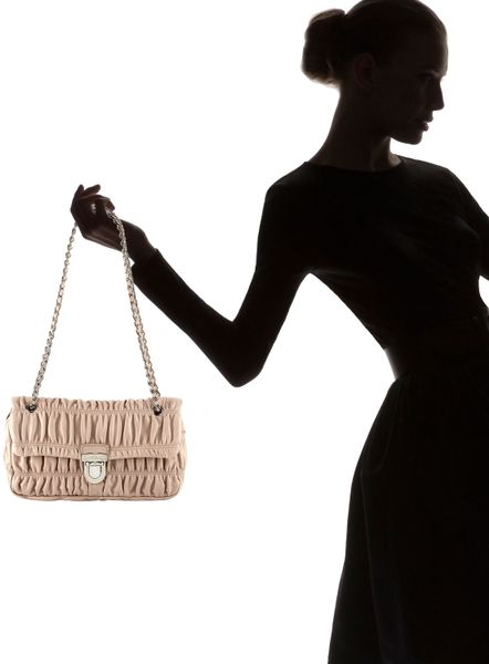 Prada Nappa Gaufre Chain Shoulder Bag 52