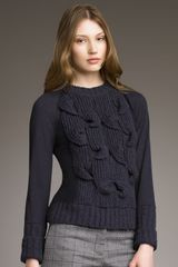 See By Chloé Cable & Smooth-knit Sweater - Lyst