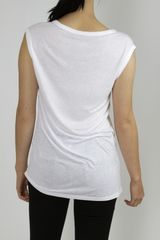 T By Alexander Wang Muscle Tee  White in White - Lyst