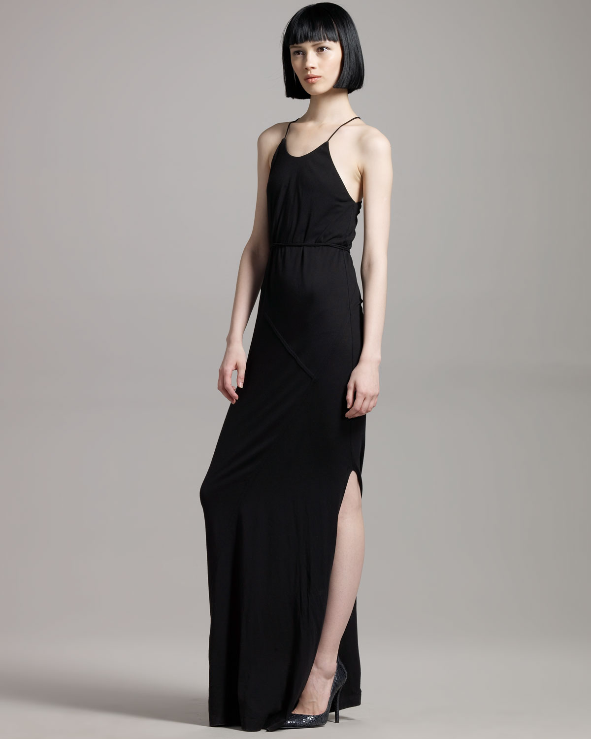 Theory Long Maxi Dress in Black | Lyst