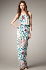 Tibi Quilt-print Maxi Dress - Lyst