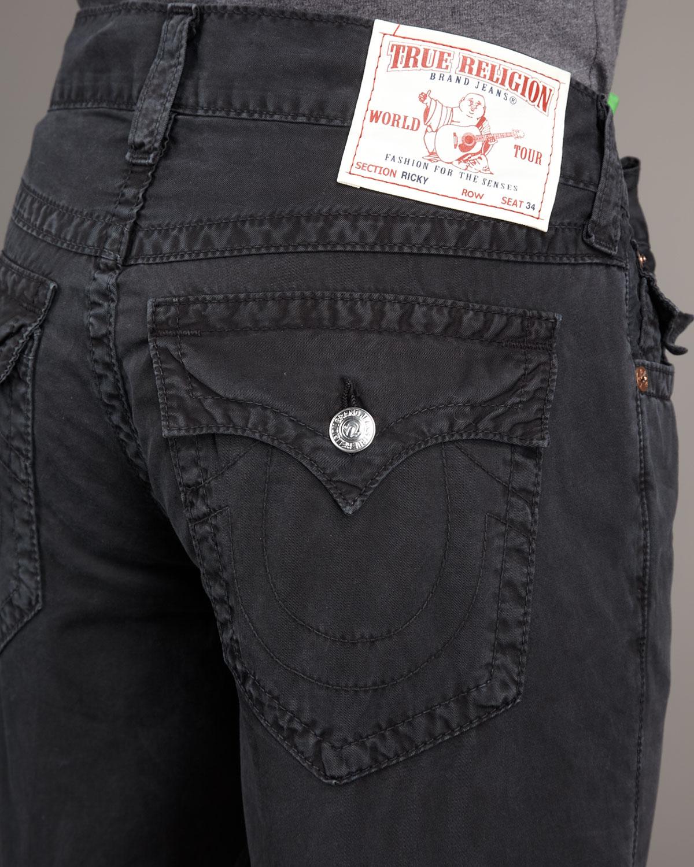 True religion Ricky Light Black Jeans in Black for Men | Lyst