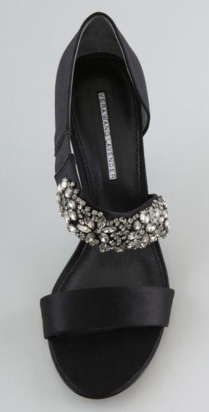 Vera Wang Lavender Elroy High Heel Sandals In Black Lyst