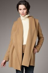 Vince Hooded Drape Coat - Lyst