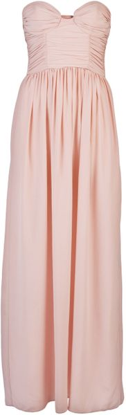 Zimmermann Rouched Bustier Dress in Pink - Lyst
