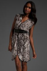 BCBGMAXAZRIA Printed Dress - Lyst