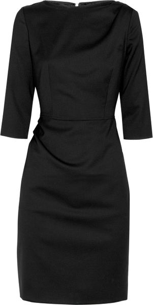 Moschino Cheap & Chic Woolblend Twill Pencil Dress in Black - Lyst