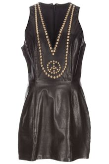 Gianni Versace Vintage Leather Dress - Lyst