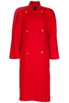 Louis Feraud Vintage Round Shoulder Coat - Lyst