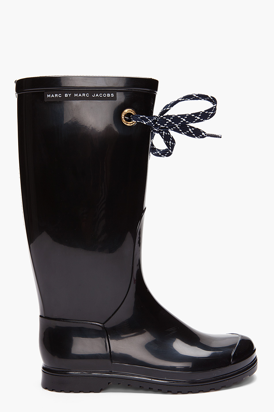 marc by marc jacobs black rain boots in black lyst. Black Bedroom Furniture Sets. Home Design Ideas