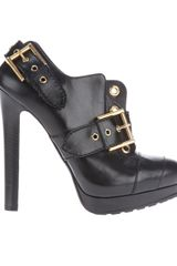 Alexander Mcqueen Buckle Ankle Boot in Black - Lyst