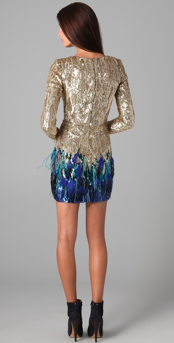 Lyst Matthew Williamson Liquid Sequin Dress In Metallic